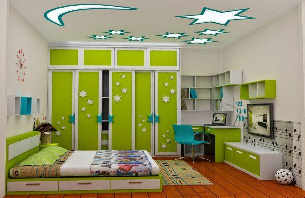Hình ảnh mẫu trần thạch cao phòng ngủ trẻ em đầy Sáng Tạo đẹp