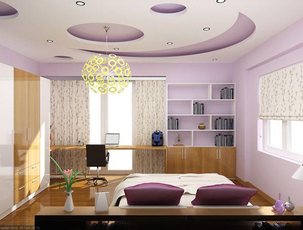 Hình ảnh mẫu trần thạch cao Phòng Ngủ vợ chồng đẹp nhất Hiện Nay
